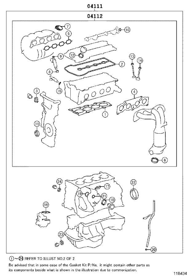 Scion Xb Engine Cylinder Head Gasket Set  Gasket Kit