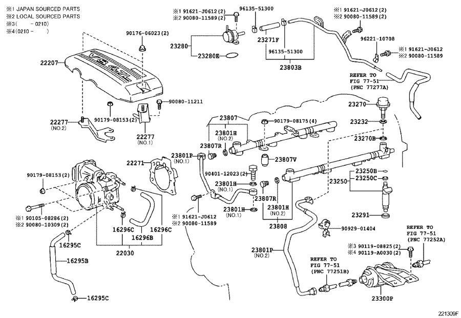 Toyota Tundra Engine Coolant Hose