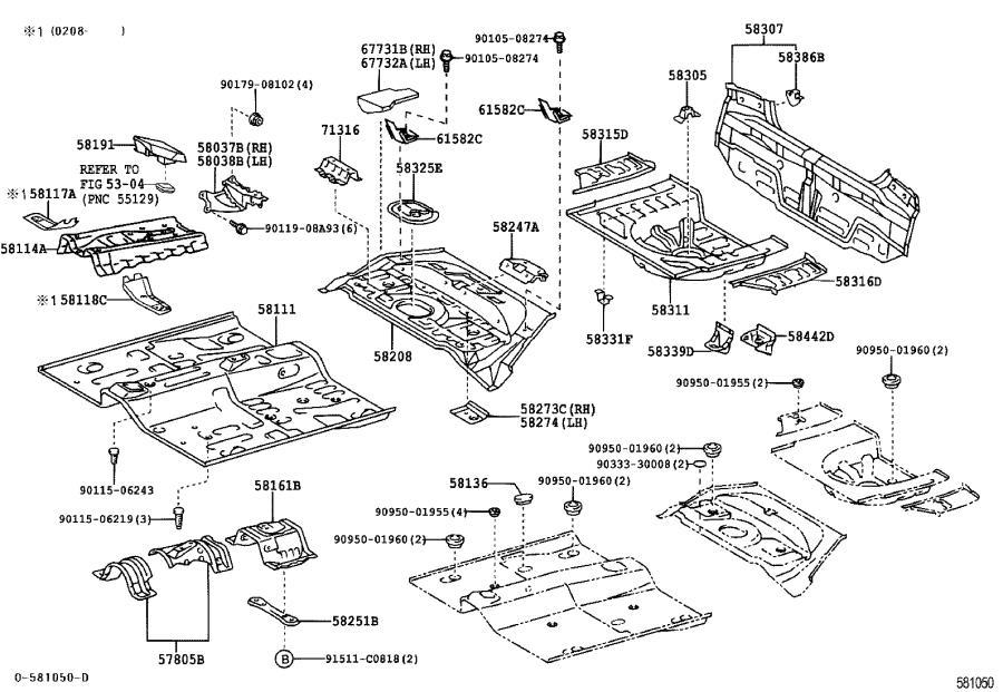 Toyota Echo Rear Body Panel  Lower   Panel  Body Back