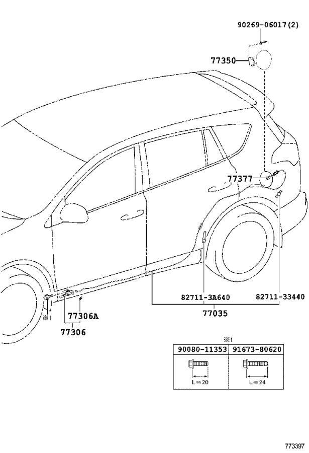Toyota Rav4 Fuel Tank Strap  Left   Tube  Cnd  Body