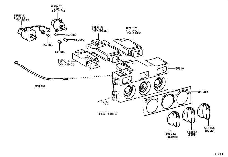 Toyota Camry Housing  Heater Control  Air  Duct  Manual