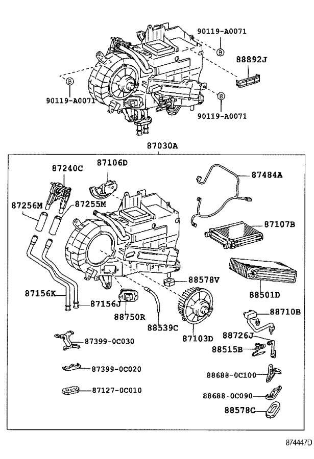 2005 Toyota Sequoia A  C Evaporator Drain  Hose  Cooler Unit Drain  No 1