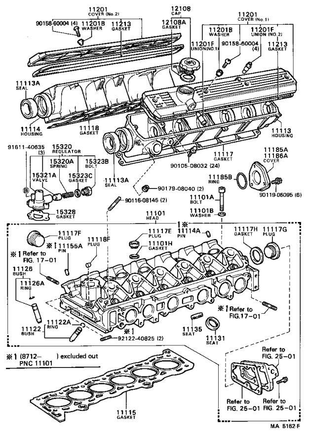 Toyota Cressida Bolt For Cylinder Head Set   Engine
