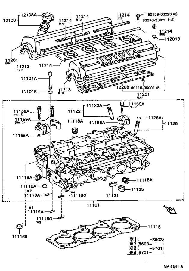 Toyota Celica Engine Valve Cover Gasket  Gasket  Cylinder