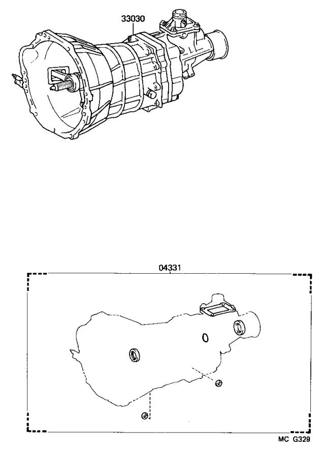 Toyota Truck Gasket Kit  Manual Transmission Overhaul  Twt