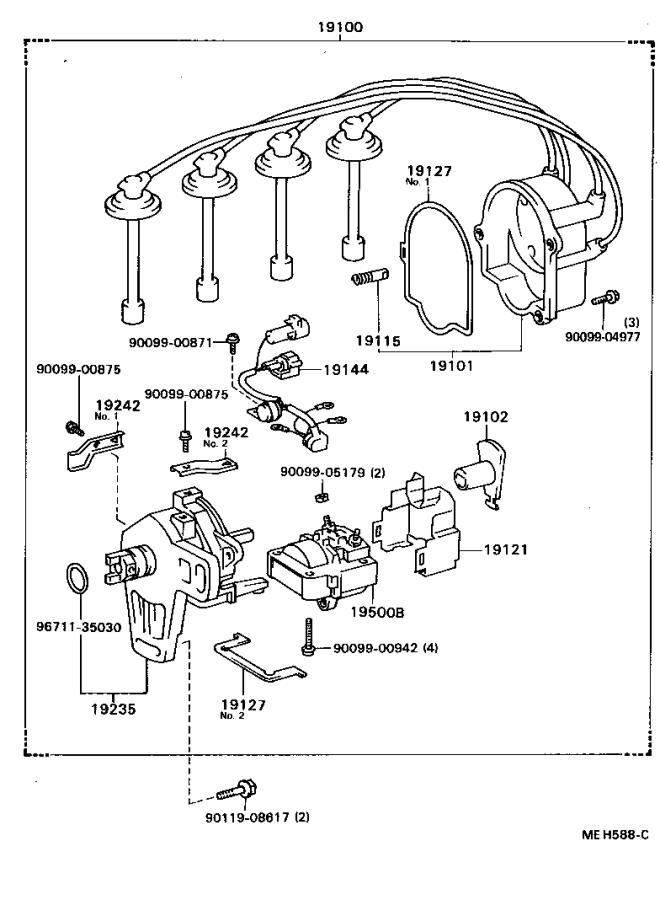 Toyota Celica Distributor Rotor