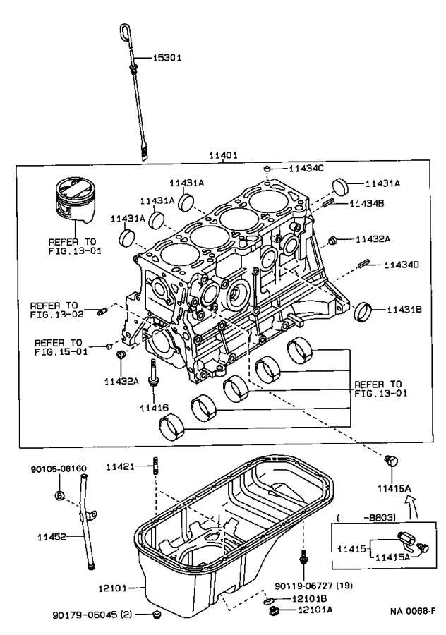 Toyota Corolla Block Sub
