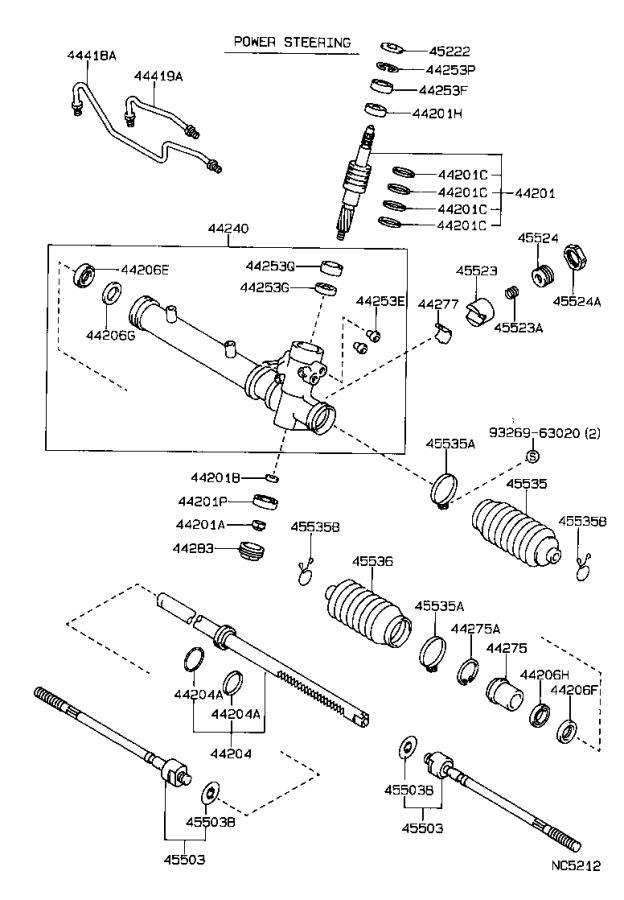 Toyota Corolla Guide  Rack For Steering Gear   Power  Std