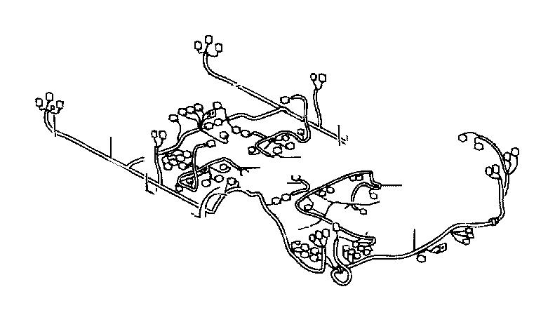 Toyota Land Cruiser Wire, floor. Electrical, door, wiring ...